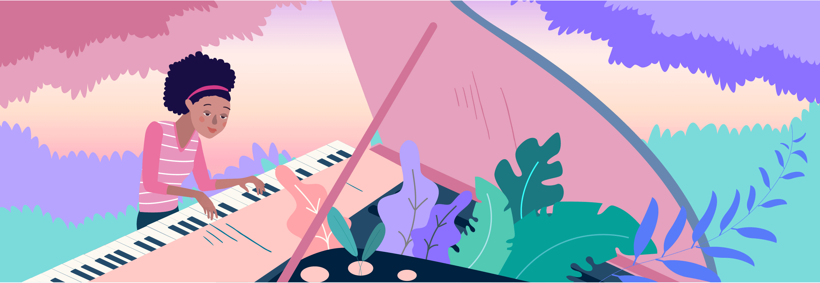 piano with teacher