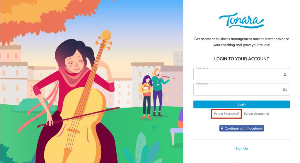 tonara forgot password1