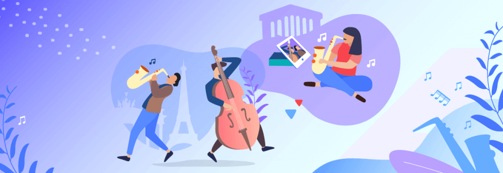 musicians playing together