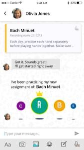 music practice app interaction