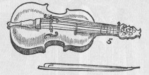 ancient violin string instrument
