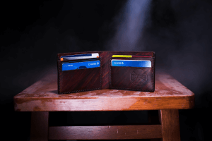an open wallet