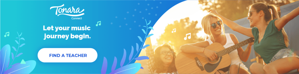 let your music journey begin, tonara connect banner