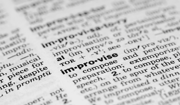 improvise word in dictionary