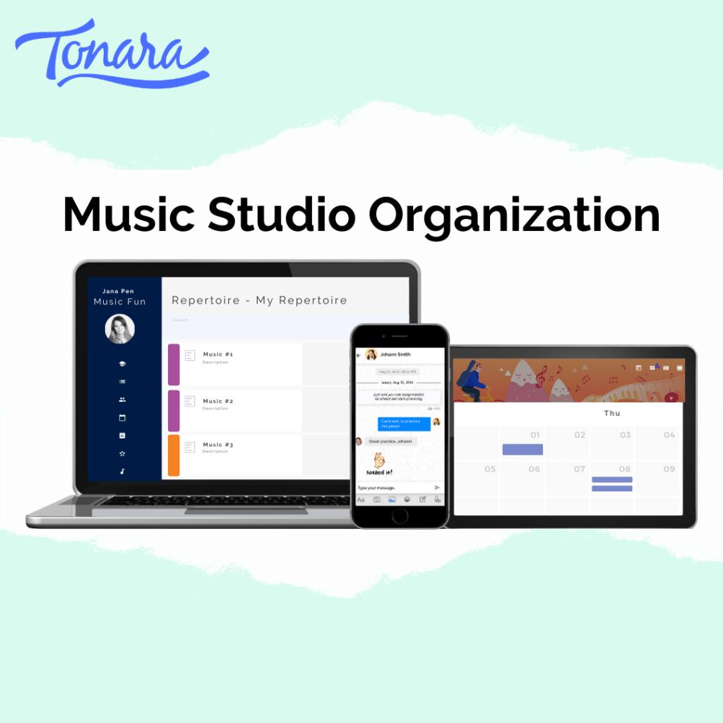 music studio organizor