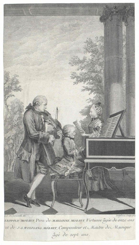 Mozart's family playing